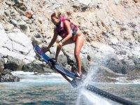 Hoverboard ganando altura