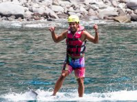 Probando en hoverboard en Gran Canaria