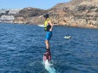 Saliendo del agua en equilibrio