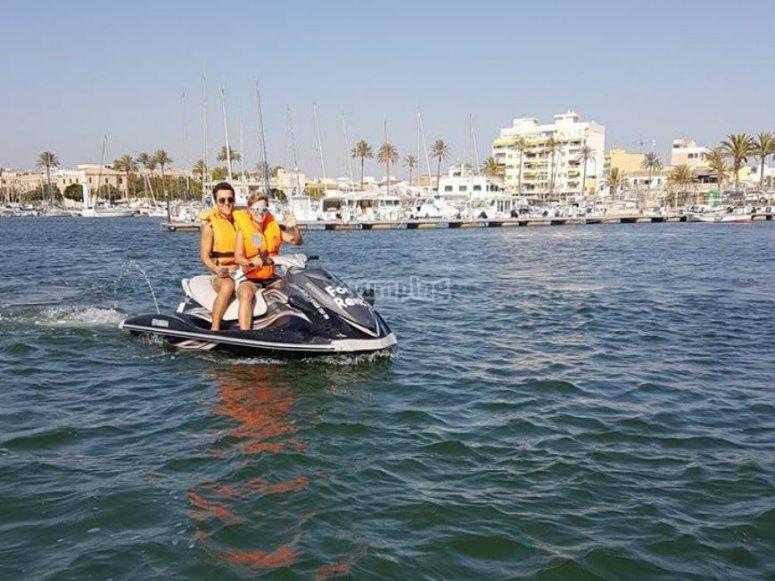 Srucando Palma en jetski biplaza