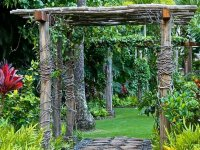 entra nel giardino