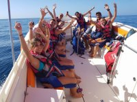 Trayecto en barco de parascending