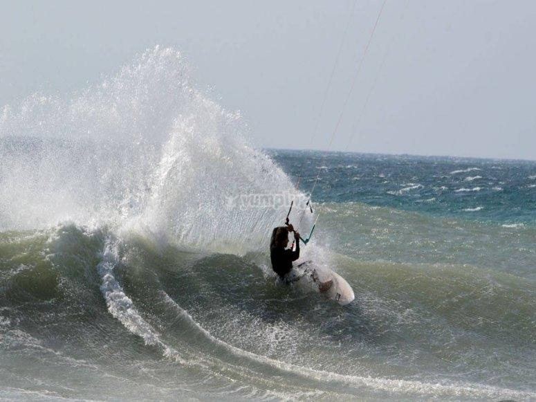 私人无肩带风筝冲浪