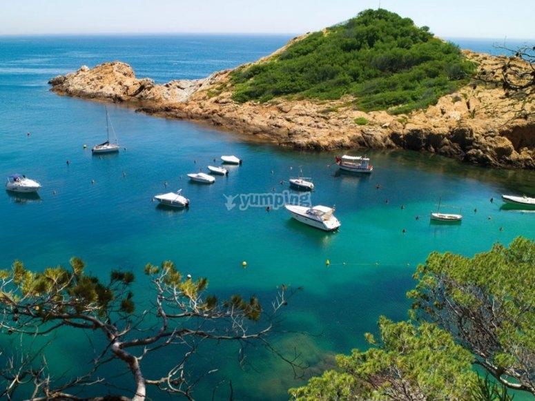 costa catalana vista dron