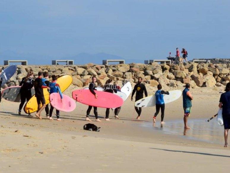 海浪冲浪课程