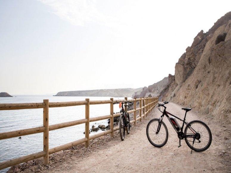 biciletas y el mar