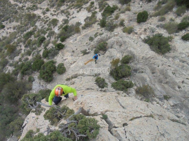 ascenso en rocas