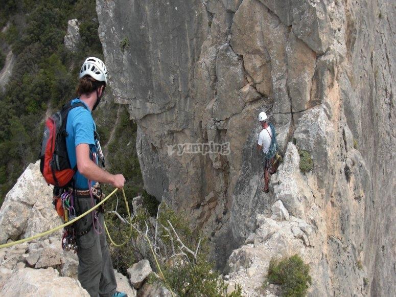 escalada con cuerdas
