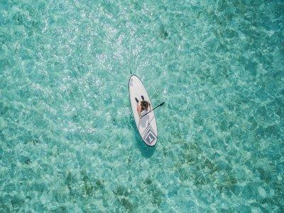 Clase de paddle surf en La Manga 1:30 h