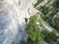攀登通过ferrata