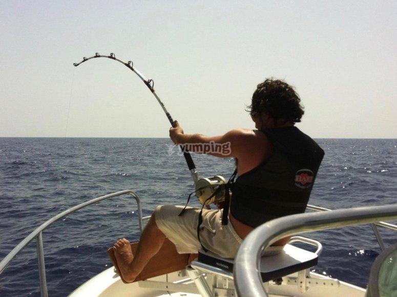 pesca sportiva con canna