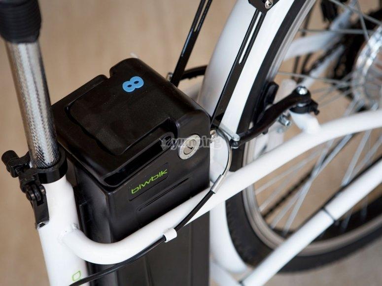 Motor y bateria de la bici