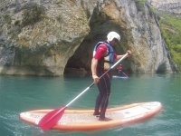 Haciendo paddle surf por el Río Ésera