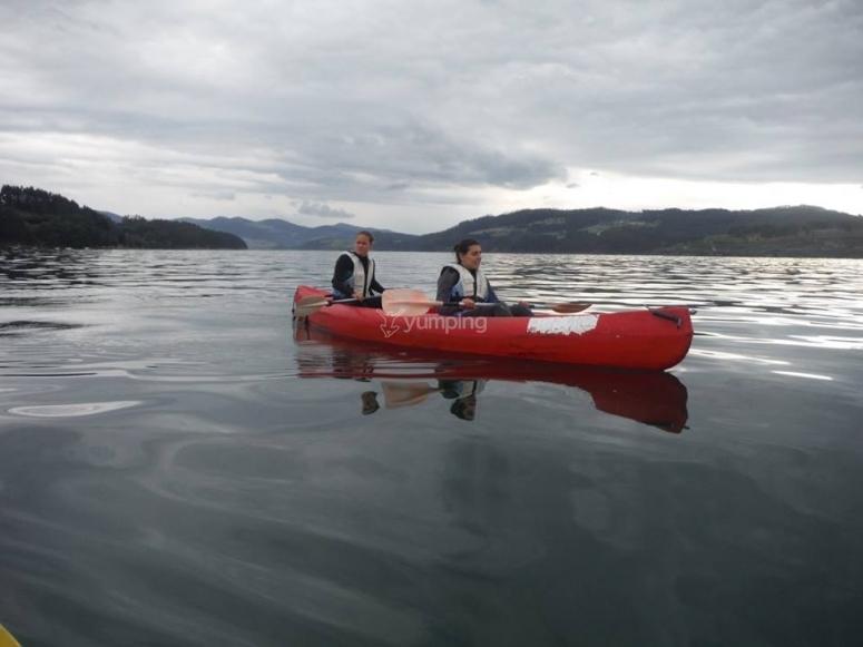 In canoa a due posti