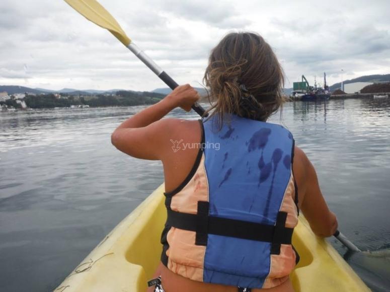 Navigando nella canoa