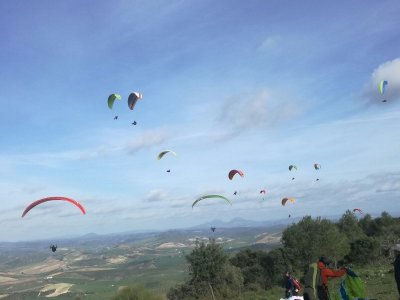 Addio al celibato in parapendio Montellano 20min