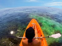 Sailing around La Manga by kayak