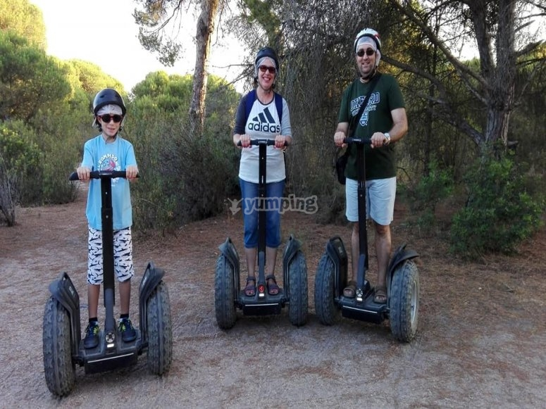 Ruta familiar en segway Huelva