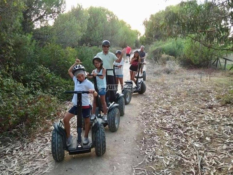 Ruta en segway para niños río Piedras