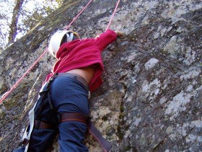 Tirolina, escalada y rappel en La Hoya 3h