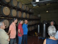 Visit to the barrel room