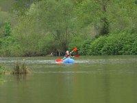Couple enjoying kayaking in Asturias