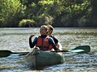 Enjoying a kayak ride
