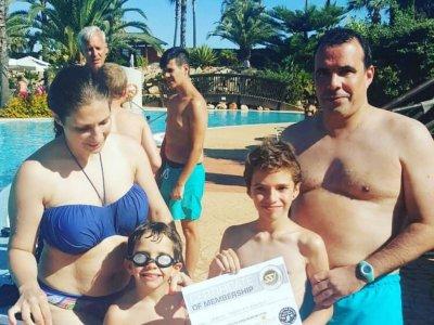 Bautizo de buceo en piscina en Mazagón