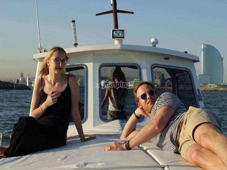 En la cubierta del barco