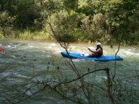 在树丛中的个人登船