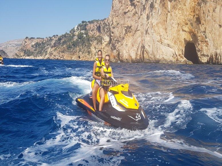 Moto de agua en isla de Portixol