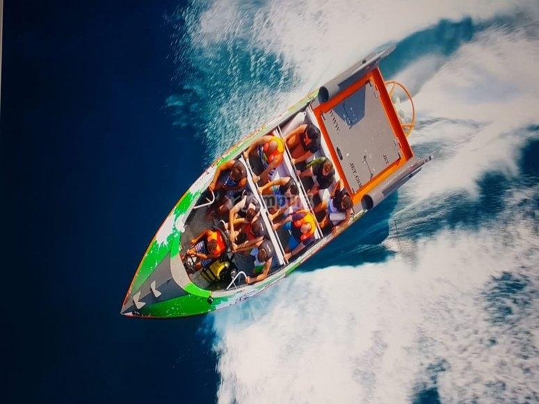 Jet boat speeding