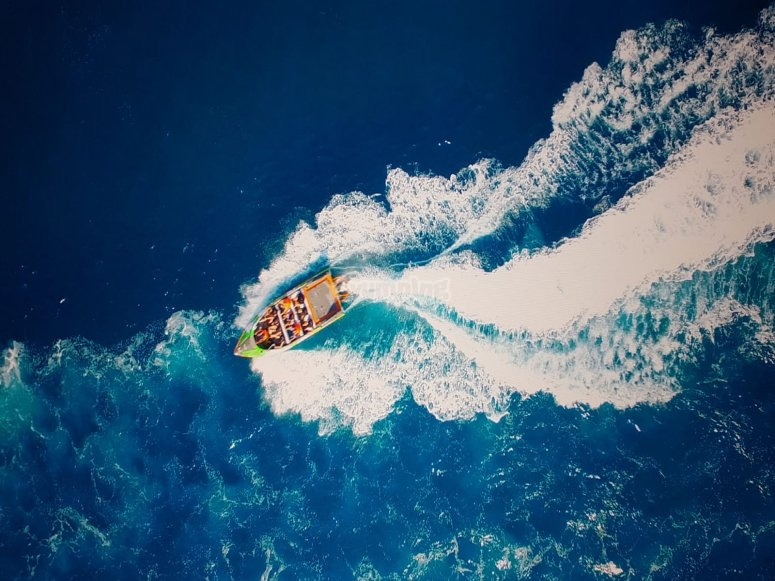 Aerial pictures of the raft