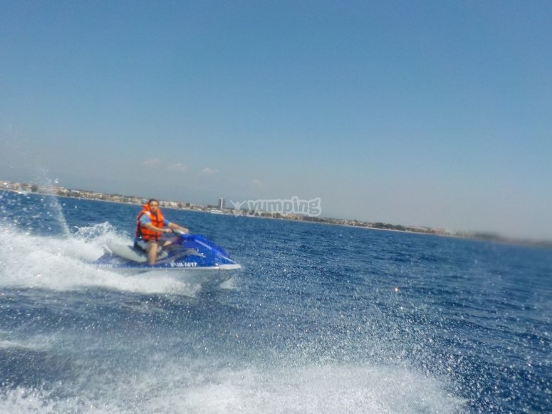 Guided routes with jet skis