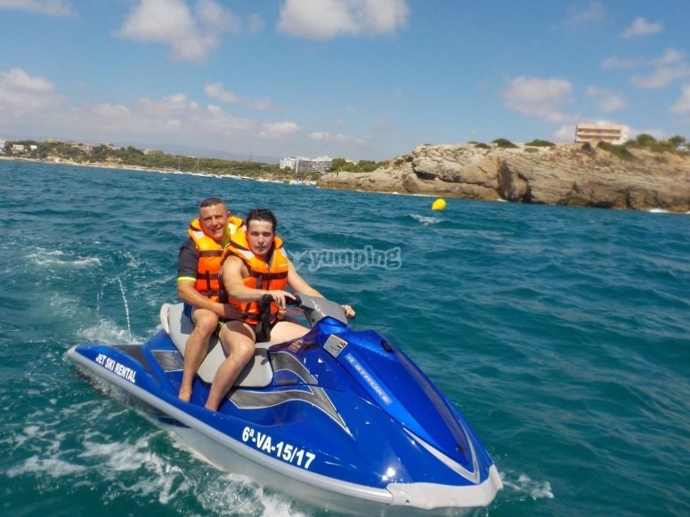 Two-seater jet skis in Cambrils