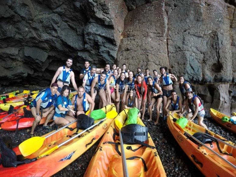 Dia de kayak en Las Palmas