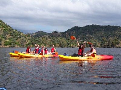 Kayak route in Sierra de Andújar for groups