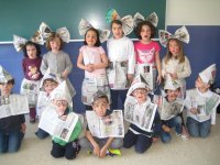 Costumes with newspapers