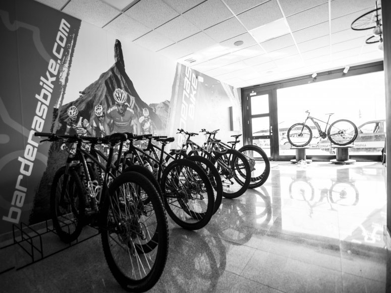 bikes inside the store