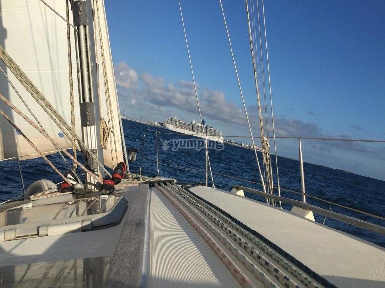 Paseo privado en el velero