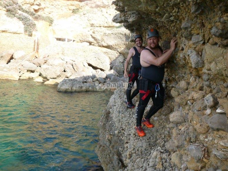 psicobloc en coasteering
