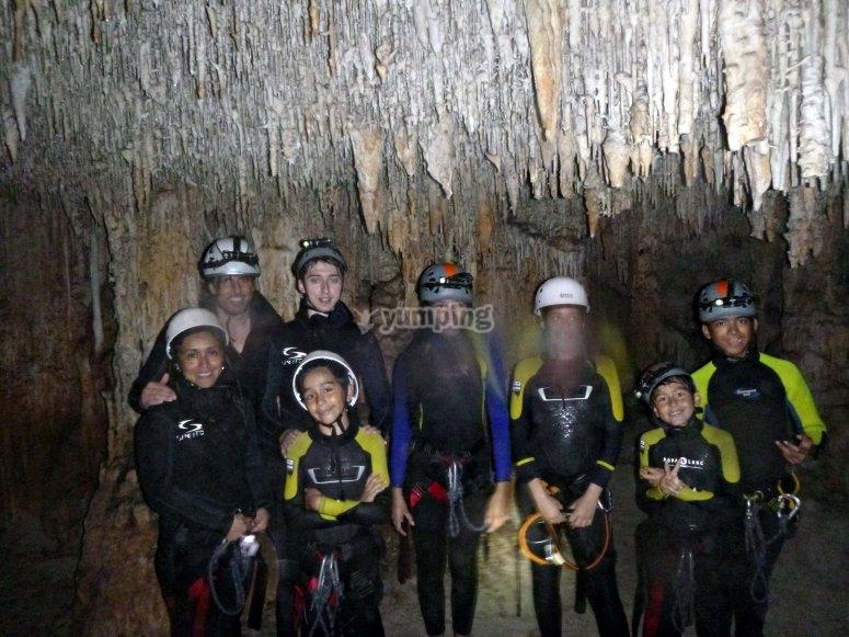 espeleologia en la cueva