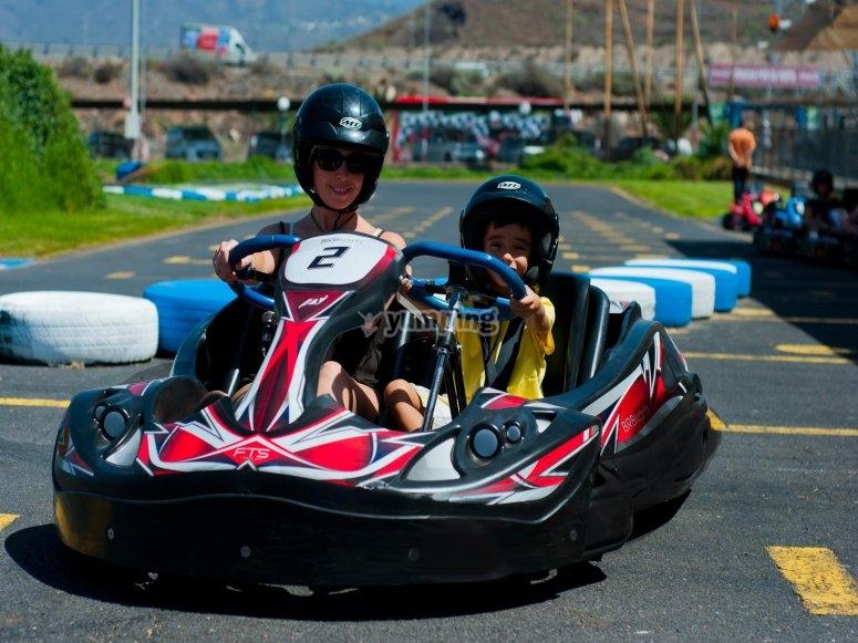 Kart biplaza para los más pequeños