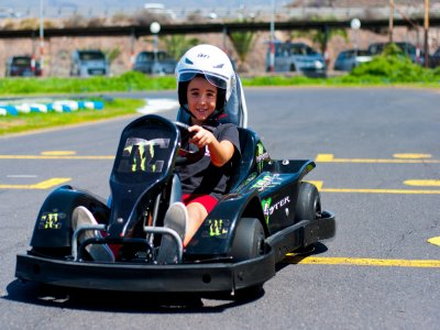Sesión de karting para niños en Parque La Reina