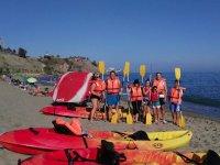 Kayak para colegios en la Playa del Carvajal