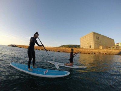 在Paddle Surfboard上漫步穿过Zurriola 2小时