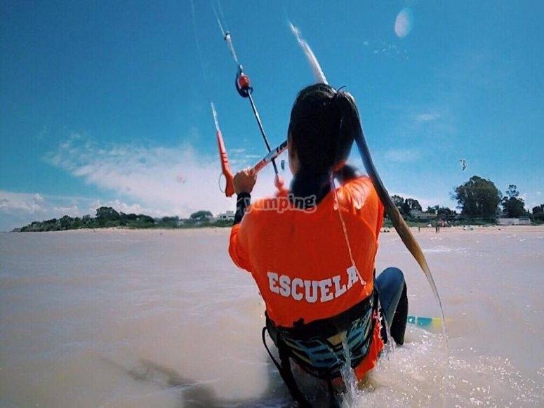 Clases de iniciacion de kitesurf