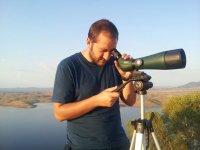 Observando con telescopio