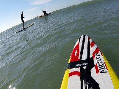 Chipiona桨冲浪路线海滩3小时