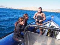 Doble inmersión con equipo Cabo de Gata